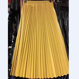 28e2780b6 black pleated leather skirt Promo Codes - PU Accordion Pleated Skirt Autumn  & Winter New Style