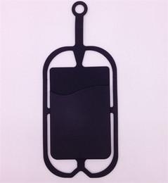 Caja de la tarjeta de identificación celular online-100PCS Universal Lanyard Neck Strap caja del teléfono celular con ID Credit Card Holder cubierta de la caja del teléfono Sling ranura para tarjetas para teléfonos inteligentes