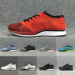 2e05417f98686 Cheaper New Fly Racer Running Shoes For Women Men Lightweight Breathable High  Quality Athletic Outdoor sneakers shoes Free Shipping 36-45