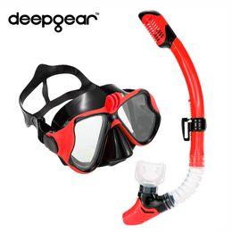 066e7ede5 Deepgear Máscara De Mergulho E Snorkel Set Miopia Lente Máscara De Mergulho  Para Gopro Black Silicone Máscara De Mergulho Seco Snorkel Snorkel  Equipamentos