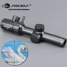 inventor Desconto FRIE WOLF 1-4x20 Hunting Rifle scope Green Red Illuminated Riflescope With Range Finder Reticle Caza Rifle scope Air Rifle opti