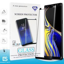 galassia s6 della protezione del vetro Sconti Case Friendly NO HOLE S10 5G Huawei P30 Pro per Samsung Galaxy S10 S9 S8 NOTE 10 Plus S7 S6 Vetro temperato 3D Curve Edge Protector