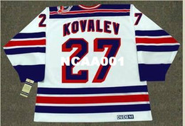 Wholesale 1994 New York Rangers - Mens #27 ALEX KOVALEV New York Rangers 1994 CCM Vintage Throwback Hockey Jersey or custom any name or number retro Jersey