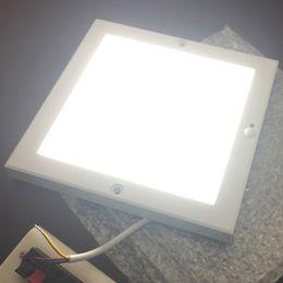 18 mm THK Cuadrado 22 cm x 22 cm PIR LED Panel de techo ultrafino Sensor de luz Sensor de luz Sensor de luz Panel montado en superficie desde fabricantes
