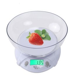 Wholesale electronic kitchen baking - WeiHeng 7kg   1g LCD Kitchen Electronic Scale Food Weighing Tool With Bowl Baking Scales Medicine Food Electronic Platform Scale Food Weigh