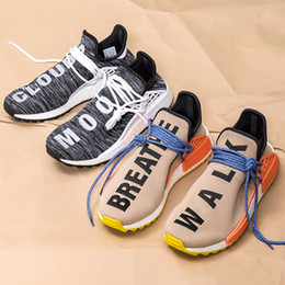 Wholesale Moon Earth - Hu NMD Trail Hiking Human Race Runner Shoes Pharrell Williams NMD Collection TR Human Race Clouds Moon Breathe Walk Body Earth