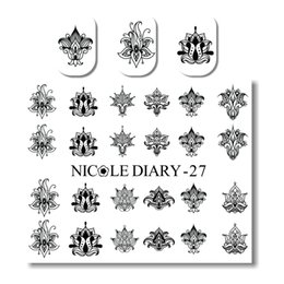Wholesale Nail 27 - NICOLE DIARY-27 Nail Art Water Decals Various Patterns Design Tips Decoration Water Transfer Nail Art Tattoo 25961