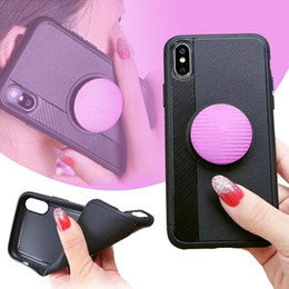 Wholesale Rose Extensions - Ultra Slim Case Air Bag Extension Type Ring kickstand Soft TPU Shockproof Anti-scratch Cover For iphone X 8 7 6s plus Samsung note 8 OPPBAG