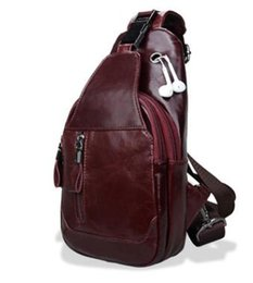 Wholesale Travel Sling Bag For Men - Brand Genuine Leather Casual Sling Bag Men's Chest Pack Crossbody Shoulder Bag Messenger Bags For Travel Zipper Style Design
