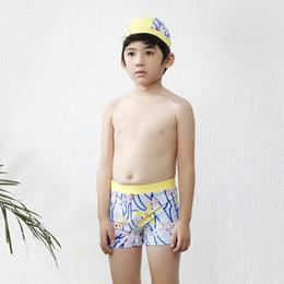 xl swim cap Desconto Novos Meninos calções de banho crianças maiô e natação cap esporte boxer calções crianças meninos quick dry nadar calções de surf