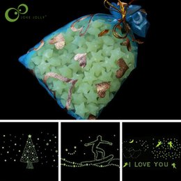 180-200pcs Stars Glow in the Dark Luminous Fluorescent Plastic Wall Decoration for Kid Home for Wedding WYQ от Поставщики кольцо игрушка оптовой гироскопа