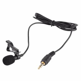 Wholesale Wire Clip Mic - 3.5mm Jack Mini Wired Clip-on Lapel Hands Free Condenser Microphone for Smartphone Mic for Recording Speeches