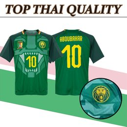 Wholesale Team Edition - Best quality 18 19 Edition Cameroon Soccer Jersey 2018 Cameroon Home soccer shirt national team Football sport suit Short sleeved uniforms