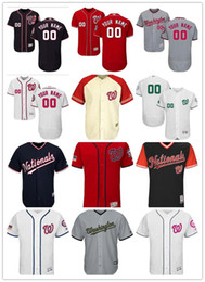 Wholesale national names - custom Men's Women Youth Majestic Nationals Jersey #00 Your name and your number Nary Blue Red Kids Baseball Jerseys