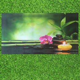2019 camere da parete dipinte di bambù HD Stampa Moderna Orchidea Zen Spa Pietra di Bambù Paesaggio Pittura a Olio su Tela Arte Poster Wall Art Immagine per Soggiorno Decorazione camere da parete dipinte di bambù economici
