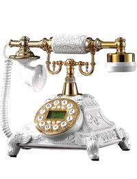 Telefones de estilo antigo on-line-Resina Branco Estilo Vintage Retro Graciosa Old Fashioned Telefone de Telefone de Casa e Telefones de Escritório de Alta-qualidade como Presente