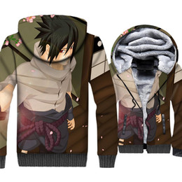 casaco de inverno japão Desconto Padrão 3D Hoodies Para Homens Japão Anime  NARUTO Camisola 2018 Outono 73c84f23ac4