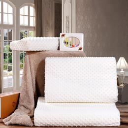 Almohadas cervicales de látex online-Cuidado de la salud Cervical caliente Ortopédica Latex Neck Foam Pillow Orthopedic Neck Almohada Fibra Slow Rebound Memory Foam