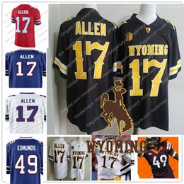 Wholesale Green Ray - Wyoming Cowboys #17 Josh Allen White Virginia Tech 49 Tremaine Edmunds Red Ray-Ray McCloud Proehl 2018 Draft College Football Blue Jerseys