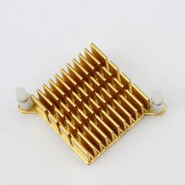 Компьютерные чипы онлайн-ooling heatsink Gdstime 1 шт. 40x40x13mm IC Двухэлектродный процессор Golden Gold Chip Компьютер Северный мост Радиатор охлаждения Радиатор Северный мост 4 ...