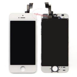 iphone 5s digitizer ersatzgroßverkauf Rabatt Großhandels-LCD-Anzeigen-Touch Screen Analog-Digital wandler-volle Versammlung für Grad A +++ iPhone 5S Ersatz-Reparatur-Teile geben Verschiffen frei