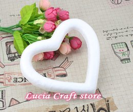 Wholesale Paint Products - Lucia Crafts 13cm Heart Shape Styrofoam Product For DIY Painted Wedding Party 6pcs lot 18031326(13D6)