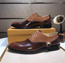 Cómodos zapatos hombres online-2018 la mejor calidad de la marca de cuero genuino de los hombres Slip-on zapatos de cuero de moda de la marca hombres pisos cómodos zapatos de conducción zapatos de vestir 38-44
