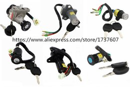 Wholesale Lock Pedals - 1pcs motorcycle power battery lock lock pedal switch electric bicycle key Medium electric door for CG125 GS125 GN125 JH 90