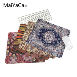 Wholesale Custom Laptops - 18*22cm 20*25cm 25*29cm Persian Carpet Styles Mouse Mat Custom High Quality Skid Durable Fashion Computer and Laptop Mouse Pad