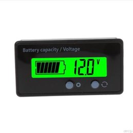 Wholesale lcd led tester - 8-70V LCD Acid Lead Lithium Battery Capacity Indicator Voltmeter Voltage Battery Testers Tools