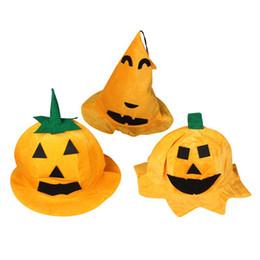 Wholesale Masquerade Hats - 2017 Halloween Costumes Pumpkin Hat Caps Party Decoration Supplies Masquerade For Women Men artigos para festa
