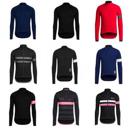 Wholesale Comfortable Bicycles - RAPHA team Cycling long Sleeves jersey men long sleeve shirt bicycle clothing in summer Wear Comfortable Breathable 840733