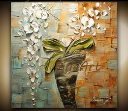 Pinturas a óleo originais modernas on-line-Faca de paleta flor pintura a óleo pinturas a óleo contemporânea texturizada arte abstrata sala de estar com pinturas decorativas originais presente original