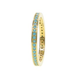Wholesale vintage turquoise gold ring - Fashion Blue Stone Boho Ring Vintage Steampunk turquoises Anillos Ring luxury gift for Women New wedding Jewelry 925 sterling silver