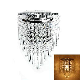 lâmpadas altas Desconto Arte Moderna de Alto Grau de Cristal Lâmpada de Parede Para Casa Quarto Sala de estar Decoração de Iluminação Interior Estilo Europeu de Luxo