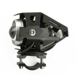 Lampe p en Ligne-HZYEYO Moto LED Conduire Brouillard Tête Tête Lumière Blanc Lampe Phares pour moto éclairage P-011