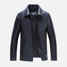 Argentina Nueva chaqueta de bombardero negro motocicleta hombres 2017 softshell primavera PU cuero abrigo de piel impermeable invierno marrón negro color puro otoño Suministro