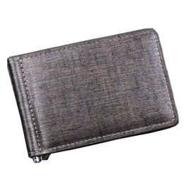 Двойная копия денег онлайн-Men Bifold Business Leather Men Wallet Purse Money Clip ID  organized Purse Pockets carteira masculina