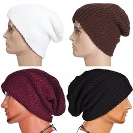 6921f274e11 Fashion Unisex Mens Ladies Knitted Winter Oversized Slouch Beanie Hat Cap  Warm Winter Knitted Beanie Hat Cap Skull Slouchy Hats