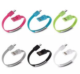 лапша микро-usb-кабель Скидка Браслет Ручной Запястье Синхронизации Данных Зарядное Устройство Зарядки USB-Кабель 20 см Быстрая Зарядка Портативный Noodle Usb Кабель Зарядного Устройства Для Micro V8 Android by ohyes