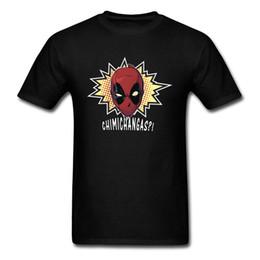 baumwolle grafik t-shirts marken Rabatt Marvel Deadpool Tshirt Männer Neuheit Grafik T-Shirts Homme Mode Coole Avengers 3 T-Shirt für Männer Full Cotton Brand T-Shirt