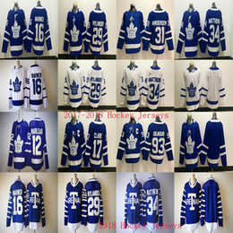 Wholesale Cheap Toronto Maple Leaf Jerseys - 2017-2018 Toronto Maple Leafs Jersey 34 Auston Matthews 16 Mitchell Marner 29 William Nylander Arenas Hockey Jerseys Cheap