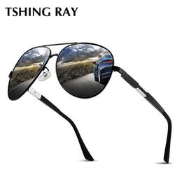 88bde903c68 TSHING RAY Diseñador de la marca Classic Pilot Sunglasses Men HD polarizado  UV400 Gafas de sol de conducción Espejo Vintage Luxury Sunglasses gafas de  sol ...