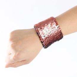 Canada Sirène Sequin Bracelet Bracelet Manchette Paillettes Bracelets Femmes Charme Bijoux Faveurs De Mariage Offre
