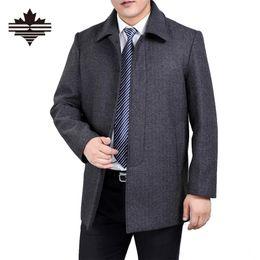 Wholesale Wool Jacket Warm Coat Men - Wholesale- New Men Woolen Winter Coats And Jackets Casual Men's Wool Overcoats Longer Warm 3XL 4XL Jacket Mens Wool Coats Thicken Cloth