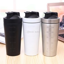 Wholesale Milkshake Cups - 25oz Sports Cup 304 Stainless Steel Vacuum Insulation Mug Beer Bar Dining Milkshake Cups Travel Mugs 3 Color WX9-261