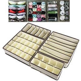2019 bindung trennwände Nützliche 4 stücke Unterwäsche Bh Socken Krawatten Make-Up Aufbewahrungsbox Closet Divider Schublade Organizer rabatt bindung trennwände