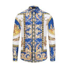 8abbcf12436 шелковые принты Скидка 2019Autumn зима с длинным рукавом повседневная  рубашки мужчины печатных платье рубашка цвет печати