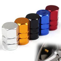 Wholesale red valve stem - New 4pcs pack Theftproof Aluminum Car Wheel Tire Valves Tyre Stem Air Caps Airtight Cover hot selling