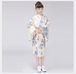милые платья японцы Скидка Stylish Japanese Baby Girl Kimono Dress Cute Kid Yukata With Obi School Girl Dance Costumes Child Cosplay Dress